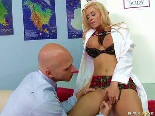 Naughty School Girl Mariah Madysinn Uses Her Big Tits To Win The Prize
