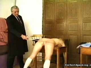 School Dean Spanks The Ass Of Naughty Student