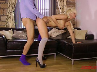 Bad Girl In A Schoolgirl Uniform Hooks Up With A Much Older Man