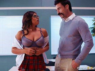 Ella Knox Is A Naughty Schoolgirl Craving A Teacher's Fat Cock