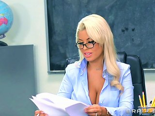 Sexiest Teacher In The Entire School Getting Nailed On The Table
