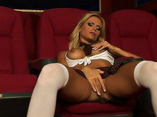 Sweet Blonde Gitta Szoke Is Playing With