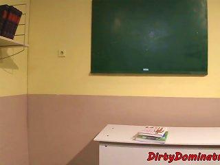 Tiedup Schoolgirl Punished In Detention