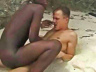 Hairy African Girl Fuckin Euro Guy In Beach Drtuber